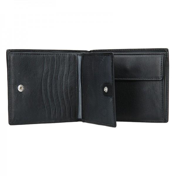 Pánská kožená peněženka Bugatti Arthur - černá