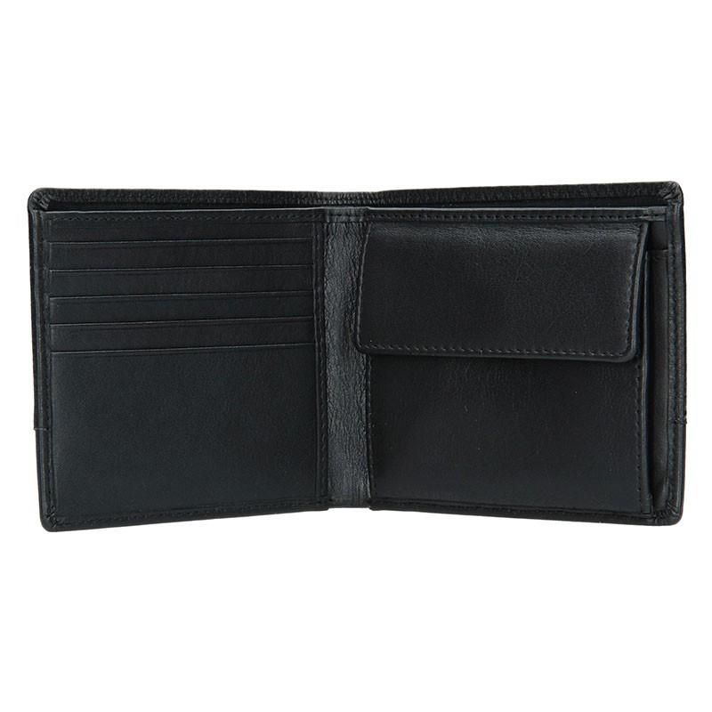 Pánská kožená peněženka Bugatti Gustav - černá. Pánská kožená peněženka  Bugatti Gustav - černá 287f30ee91
