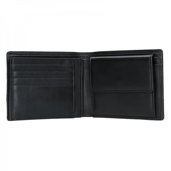 Pánská kožená peněženka Bugatti Kurt - černá