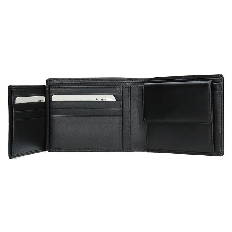 Pánská kožená peněženka Bugatti Kurt - černá. Pánská kožená peněženka  Bugatti Kurt - černá 0eb0f8e9b6