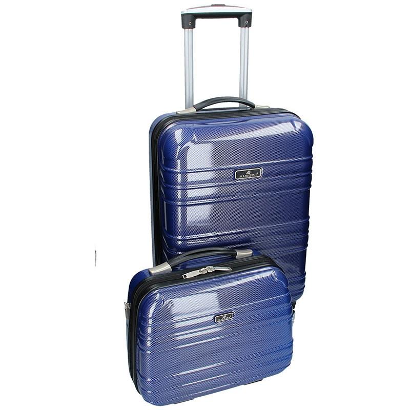 Sada dvou cestovních kufrů Madisson Elma - modrá 35l