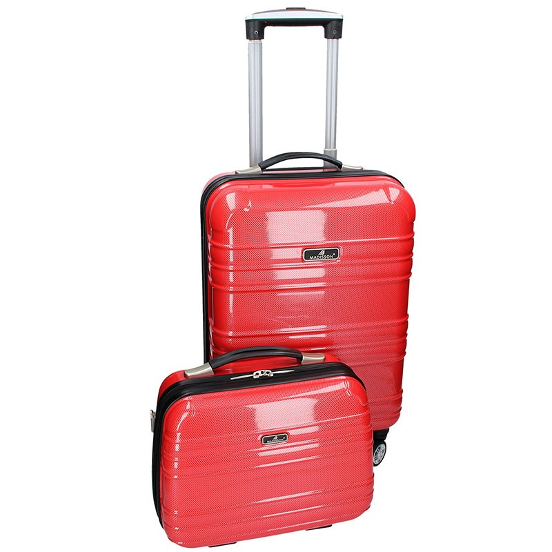 Sada dvou cestovních kufrů Madisson Elma - červená 35l