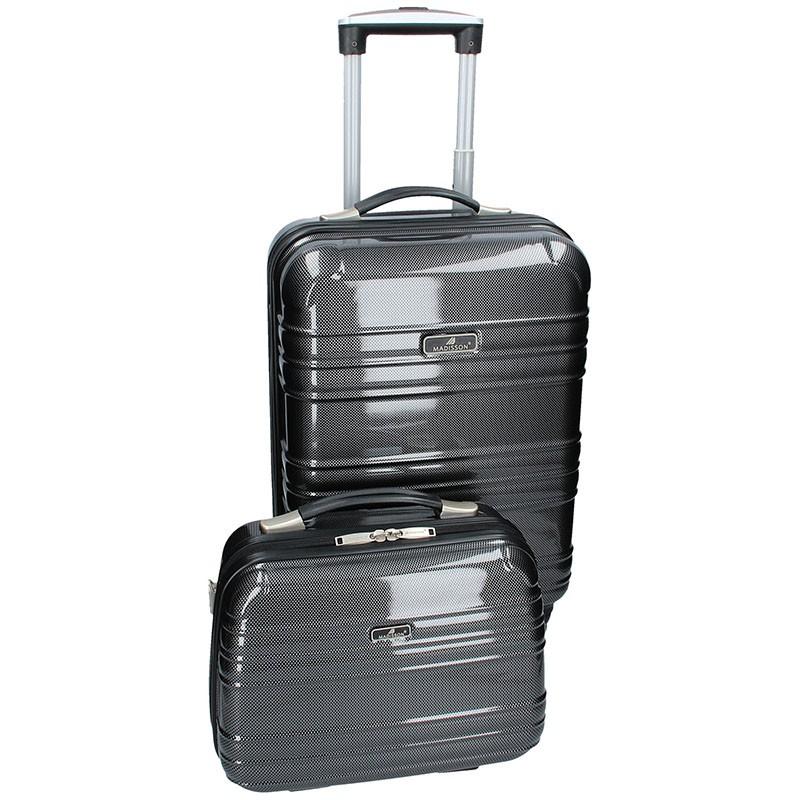 Sada dvou cestovních kufrů Madisson Elma - černo-šedá 35l
