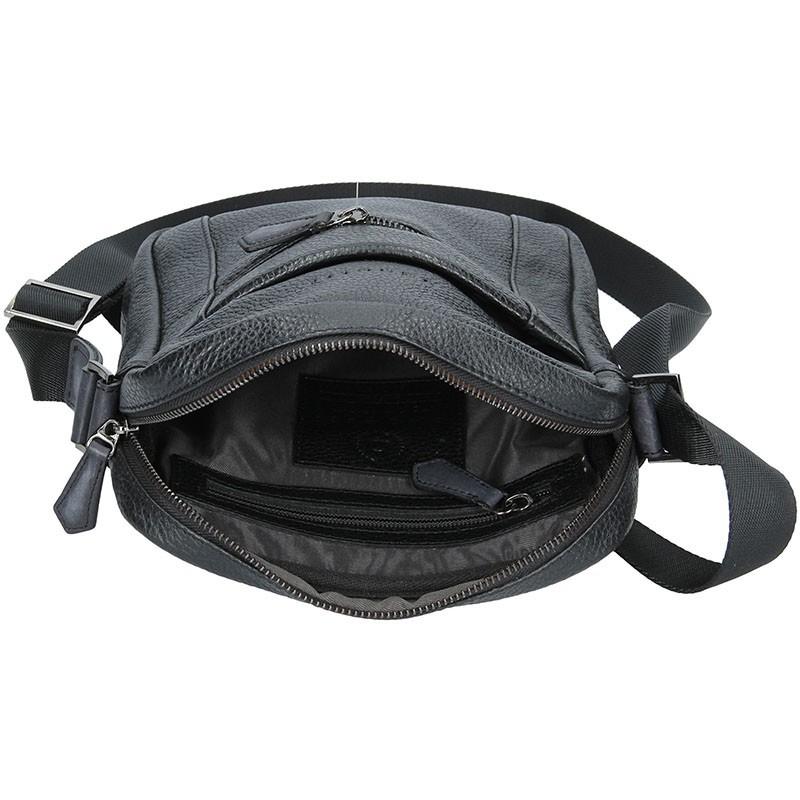 Pánská kožená taška přes rameno Bugatti Segno - černá