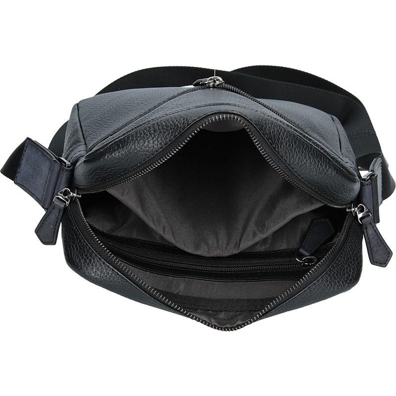 Pánská kožená taška přes rameno Bugatti Citta- černá