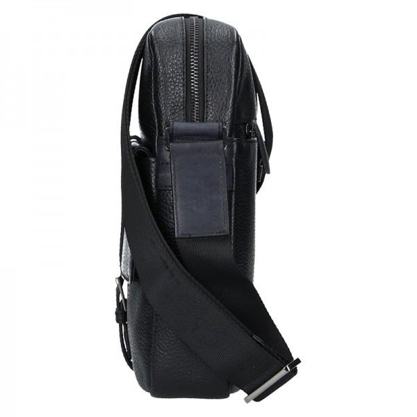 Pánská kožená taška přes rameno Bugatti Cittas - černo-šedá