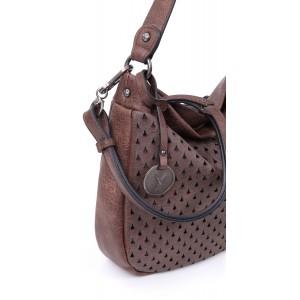 Trendy dámská crossbody kabelka Suri Frey Elma - hnědo-černá