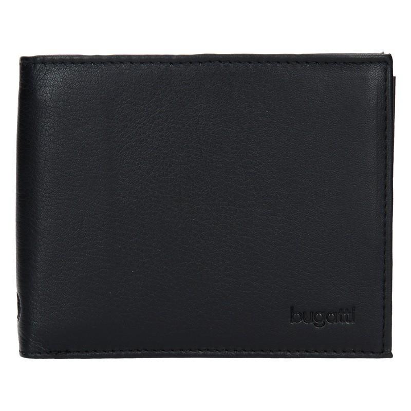 Pánská kožená peněženka Bugatti Sempre - černá