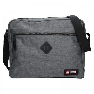 Pánská taška přes rameno Enrico Benetti Montain - šedá