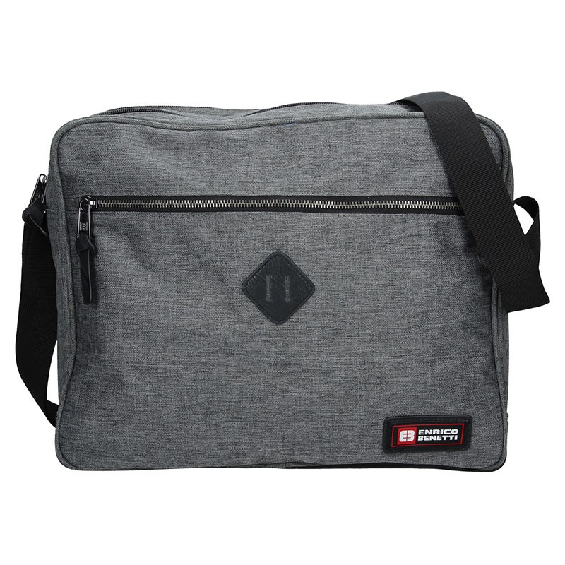 5b1af90e1b Pánská taška přes rameno Enrico Benetti Montain - šedá