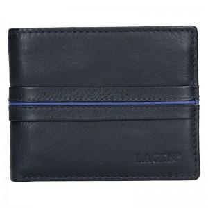 Pánská kožená slim peněženka Lagen Rhys - černo-červená