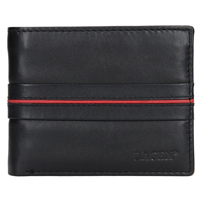 Pánská kožená peněženka Lagen Jonas - modrá
