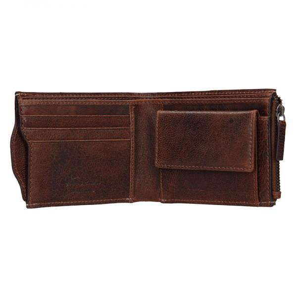 Pánská kožená peněženka Lagen Elias - světle hnědá