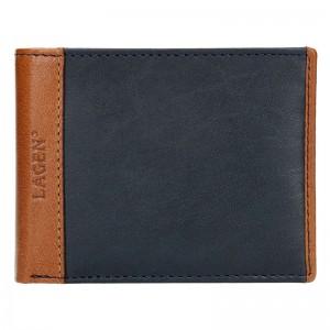 Pánská kožená peněženka Lagen Bill - černo-hnědá