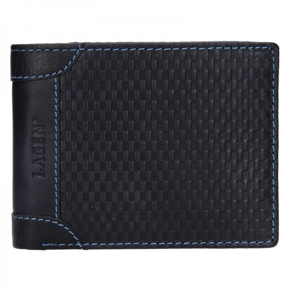 Pánská kožená peněženka Lagen Bill - modro-hnědá