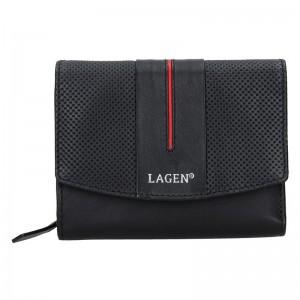 Dámská peněženka Lagen Carinne - černo-červená