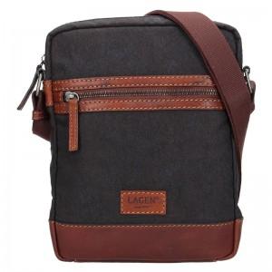 Pánská taška přes rameno Lagen Albert - černo-šedá