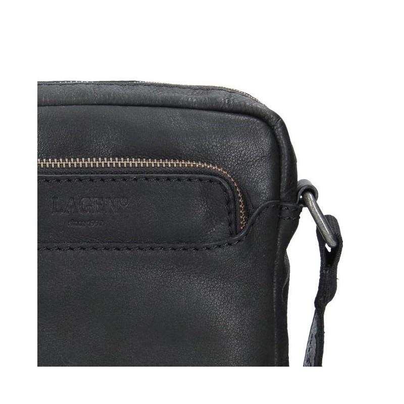Pánská kožená taška přes rameno Lagen Demarcus - hnědá