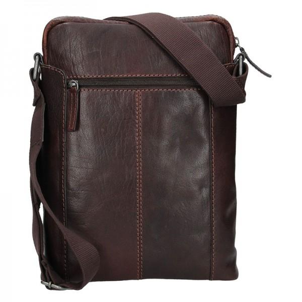 Pánská taška přes rameno Lagen Frederik - tmavě hnědá