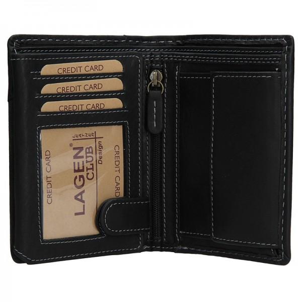 Pánská kožená peněženka Lagen Thor - černá