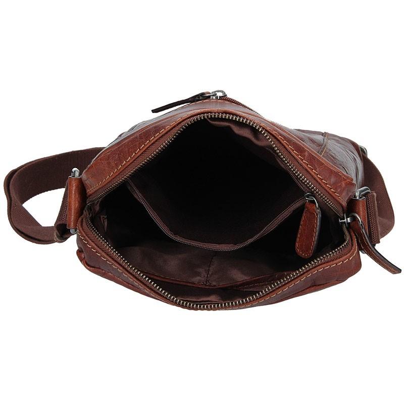 Pánská taška přes rameno Lagen Frederik - světle hnědá