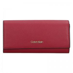 Dámská kožená peněženka Calvin Klein Greta - černá