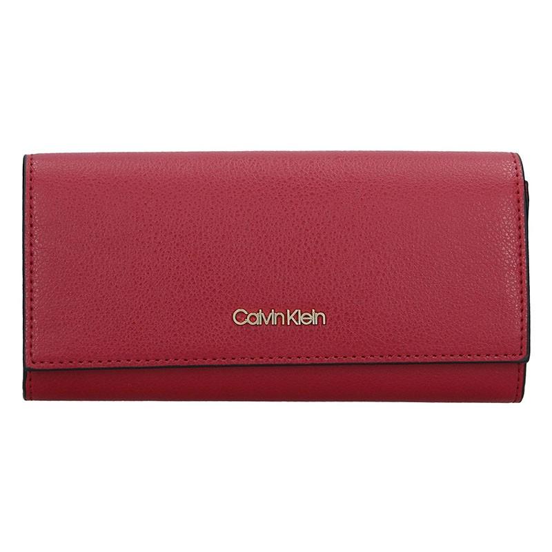 Dámská peněženka Calvin Klein Greta - vinová
