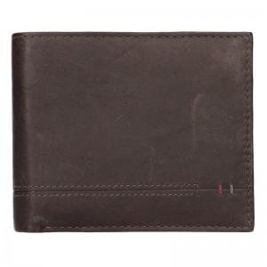 Kožená pánská peněženka Lerros Timmy - tmavě hnědá