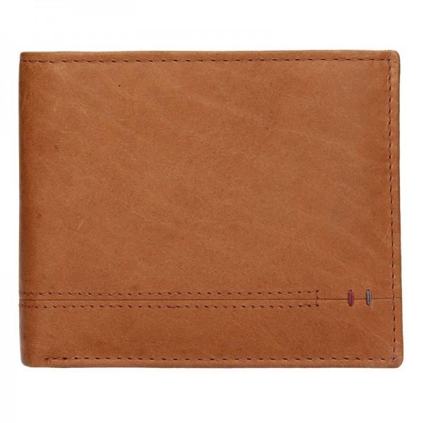 Kožená pánská peněženka Lerros Kloss - světle hnědá