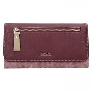 Dámská peněženka Doca 65141 - vínovo-fialová