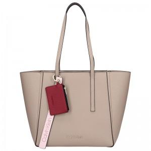 Dámská kabelka Calvin Klein Tamba - béžovo-hnědá