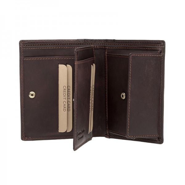 Pánská kožená peněženka Lagen Bernardo - hnědá