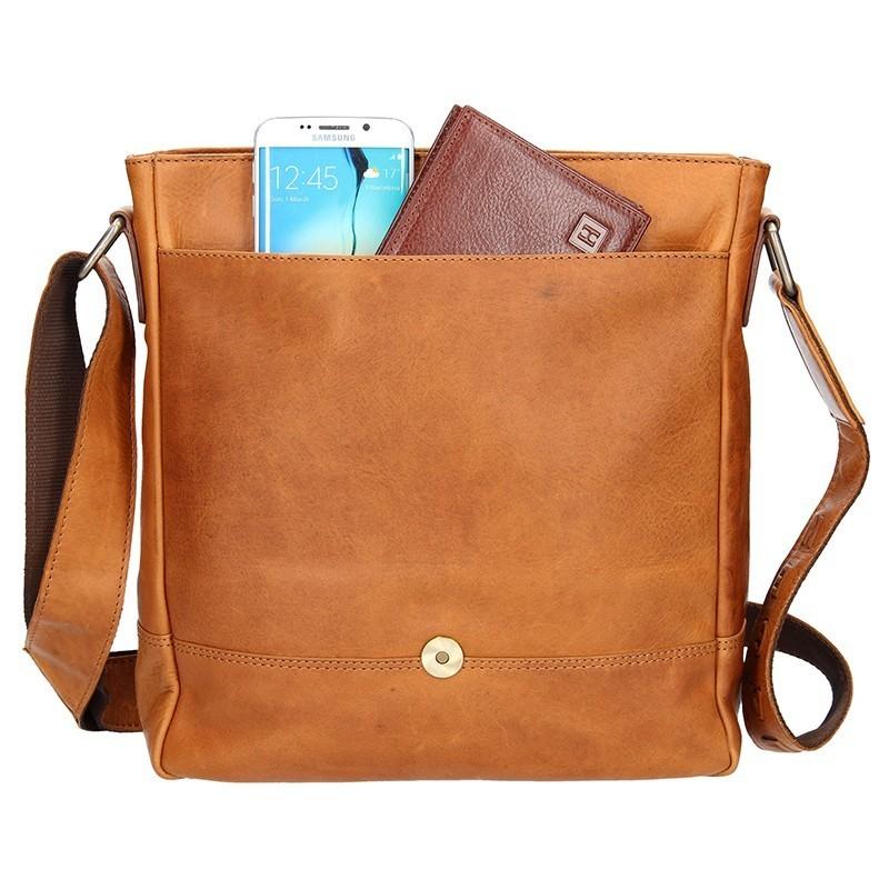 Pánská kožená taška přes rameno Lagen Luis - hnědá