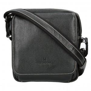 Pánská kožená taška na doklady Hexagona 154188 - černá