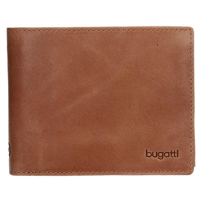 71f7537a314 Pánská kožená peněženka Bugatti Rodrigo - světle hnědá