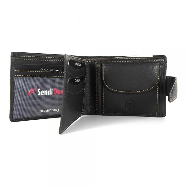 Pánská kožená peněženka SendiDesign 7001 - černá