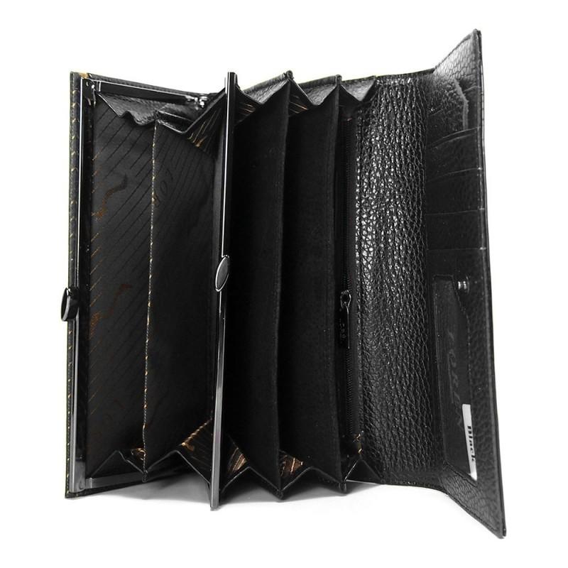 Dámská kožená peněženka Loren Melba - černá