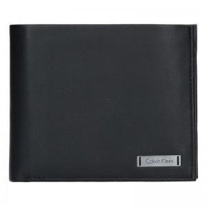 Pánská kožená peněženka Calvin Klein Ignác - černá