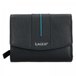 Dámská peněženka Lagen Carinne - černo-bílá