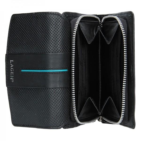 Dámská peněženka Lagen Carinne - černo-modrá