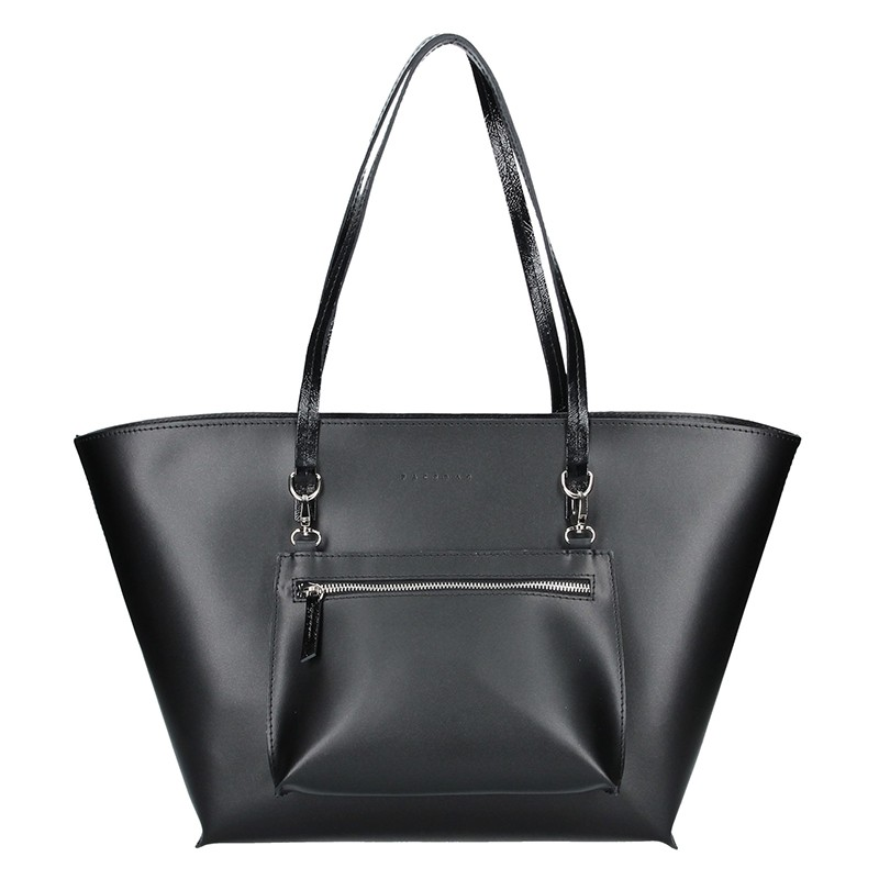 Dámská kožená kabelka Facebag 2v1 - černá