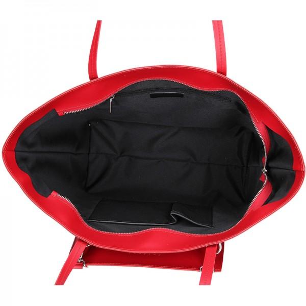 Dámská kožená kabelka Facebag 2v1 - červená