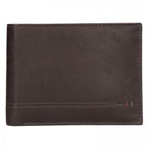 Kožená pánská peněženka Lerros Roman - tmavě hnědá
