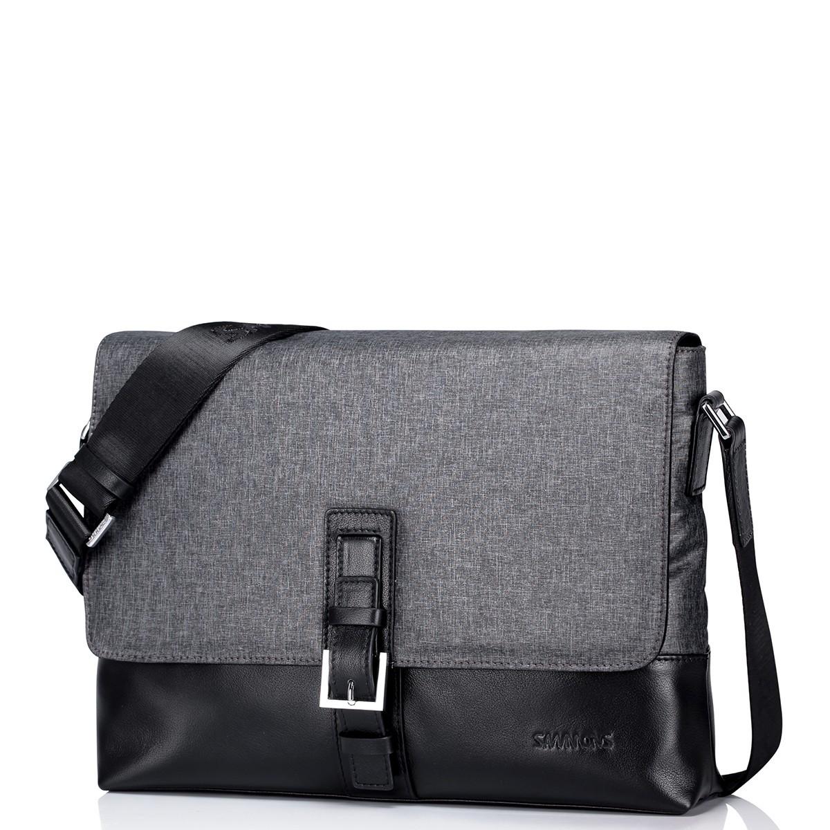 Pánská taška přes rameno Sammons Venice - šedo-černá