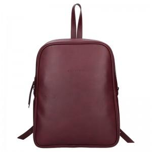 Dámský kožený batoh Facebag Linad - černá