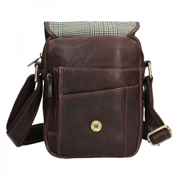 Pánská kožená taška přes rameno SendiDesign CT703 - hnědá