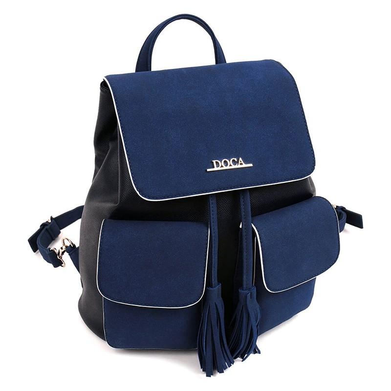 Dámský batůžek Doca 13543 - modrá