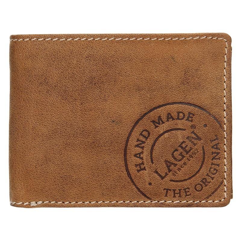 Pánská kožená peněženka Lagen Arthur - koňak