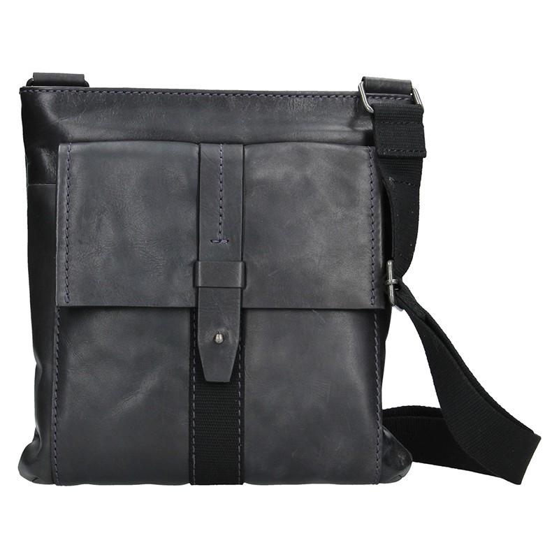 Unisex kožená taška přes rameno Lagen Apolon - hnědá