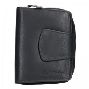 Dámská kožená peněženka SendiDesign Evron - černo-červená